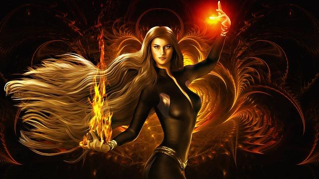 ohnivá kouzelnice
