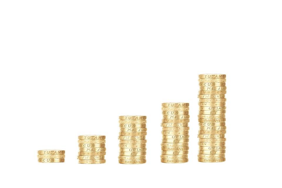 sloupečky mincí